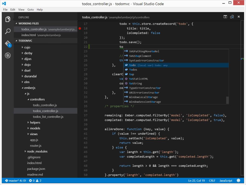 interface simple visual studio code